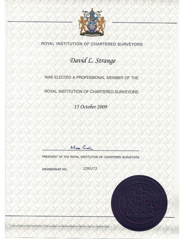 DAVID STRANGE, ASA, MRICS International Appraisals, Inc