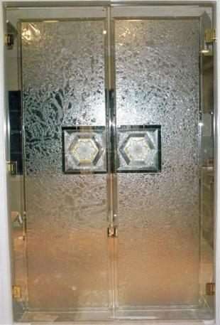 art glass doors,