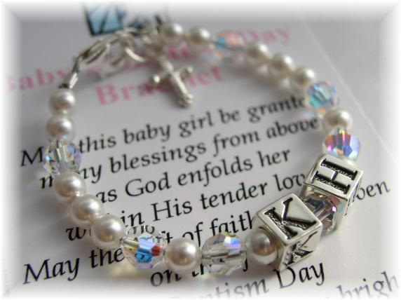 Addictivejewelry baby baptism jewelry first communion jewelry baby girl personalized baptism bracelet negle Gallery