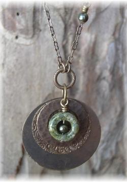 Vintaj brass necklace