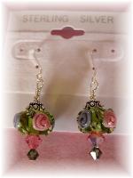 Lampwork Sterling Earrings