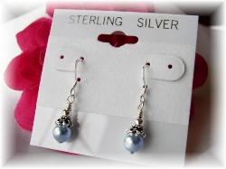 Swarovski pearl earrings