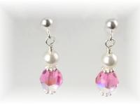 Swarovski crystal birthstone post earrings