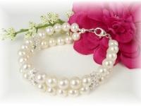 First Communion Bracelet White Freshwater Pearl