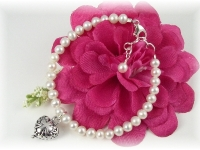 First Communion Bracelet White Freshwater Pearl Oh Holy Day