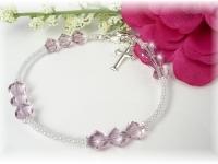 First Communion Swarovski Crystal Birthstone Bracelet