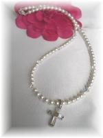 Swarovski pearl First Communion Necklace