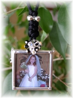 Sterling Silver Glass Photo Frame Pendant
