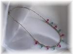 Aqua Rose Swarovski Briolette Necklace