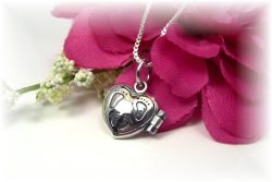 Sterling Silver Prayer Box Necklace New Mom Baby