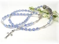 Swarovski Crystal Blue Personalized Baby Rosary
