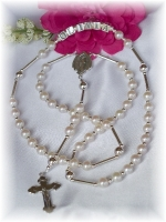 Freshwater Pearl Personalized Name Rosary