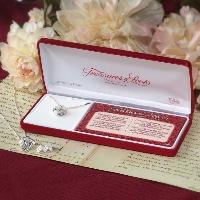 Sterling Silver Heart Prayer Box Necklace