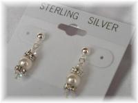 Crystal Pearl Rondelle Earrings