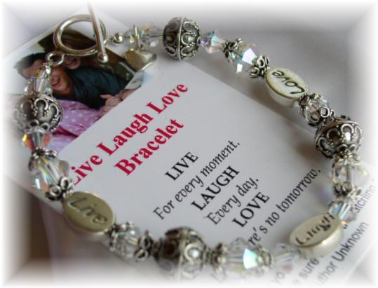 Live Laugh Love Message Bracelet