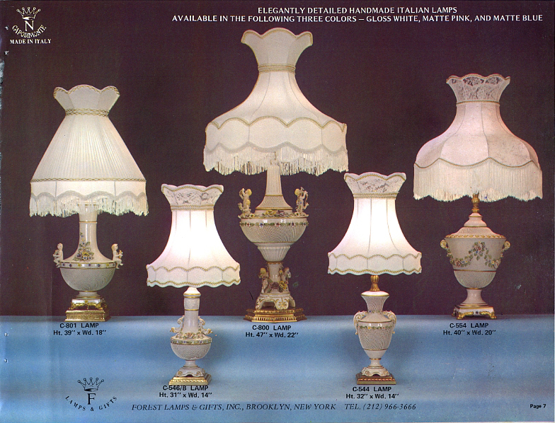 Capodimonte Made In Italy Flg 1980 Catalog Pg 3 To 20