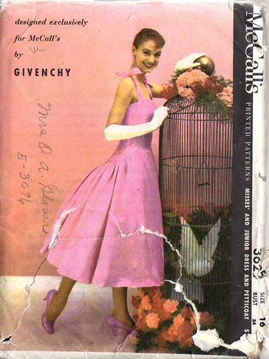 McCall's 3625 Vintage 50's Sewing Pattern BREATH TAKING Givenchy Audrey Hepburn Pleated Sun, Evening Dress & Petticoat 