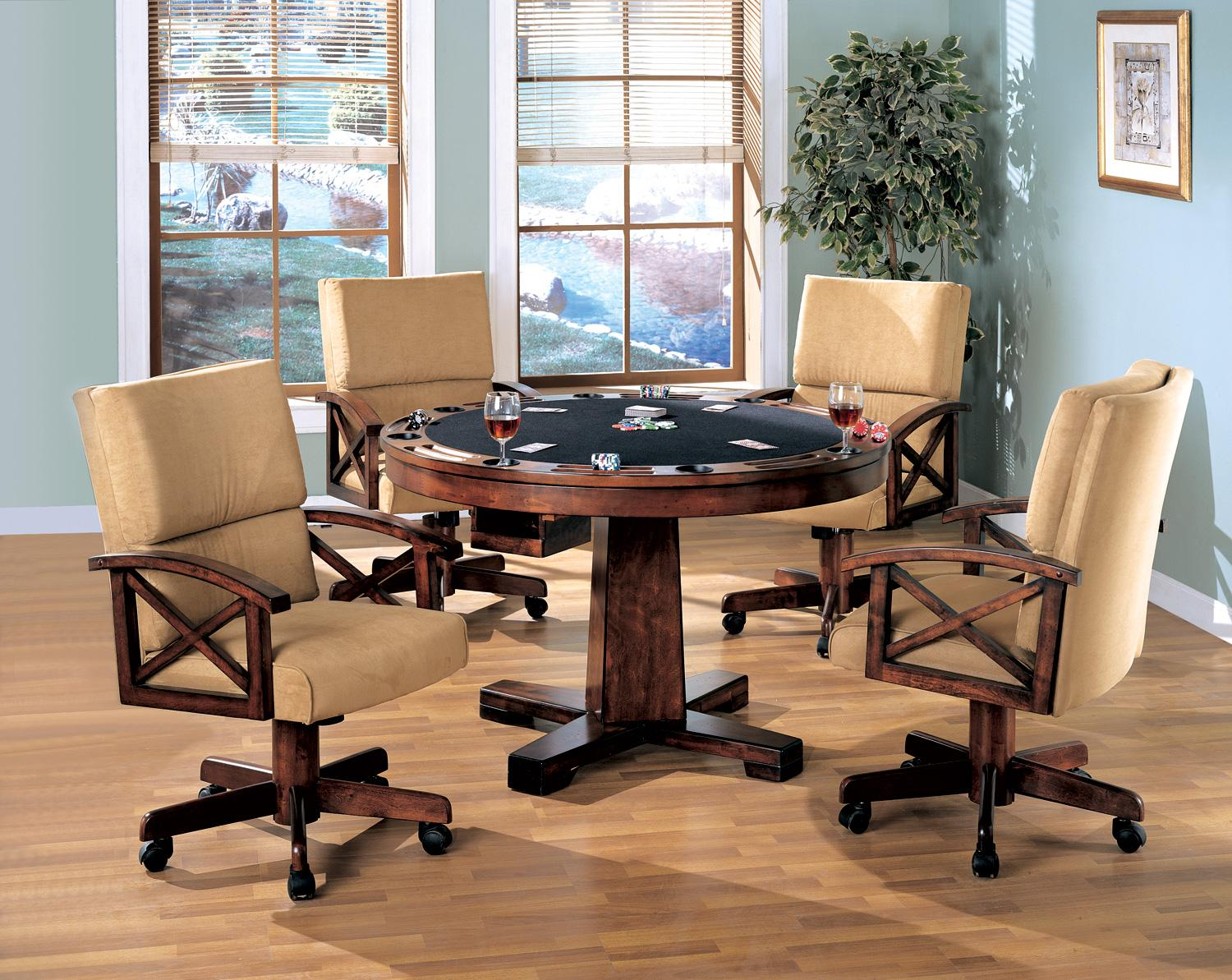 Mitchell 5 pcs set game table and 4 chairs coaster co - 3 In 1 Game Tables Game Tables For Less Poker Table Bumper Pool