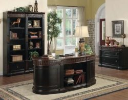 Home Office Furniture Chicago sauder shoal creek executive office desk Oval Office Desk Oval Executive Home Office Desk Real Wood Office Furniture Solid