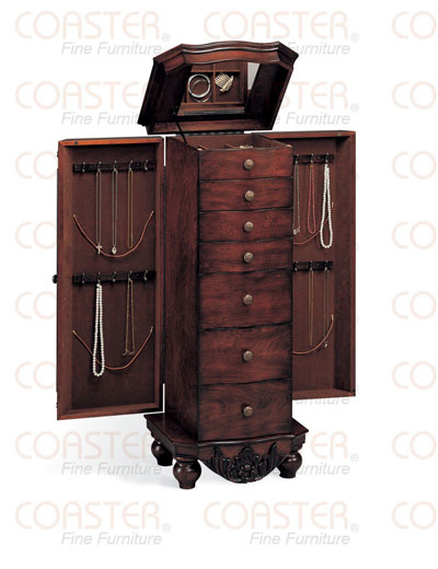 Carved Jewelry Armoire
