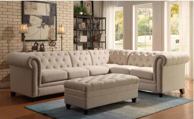 Roy Oatmeal Linen Sectional : sofa sectionals cheap - Sectionals, Sofas & Couches