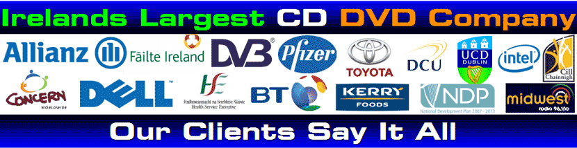 CD Duplication Ireland Clients 121