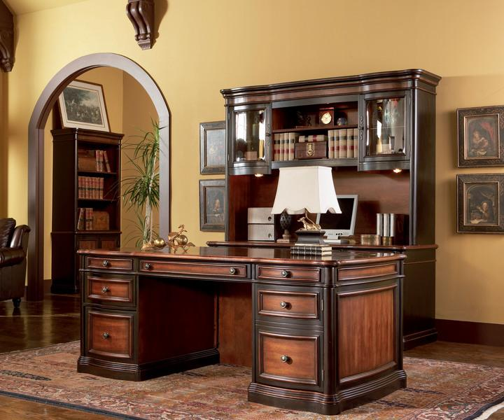 Astoria grand executive home office desk images for Home office pics