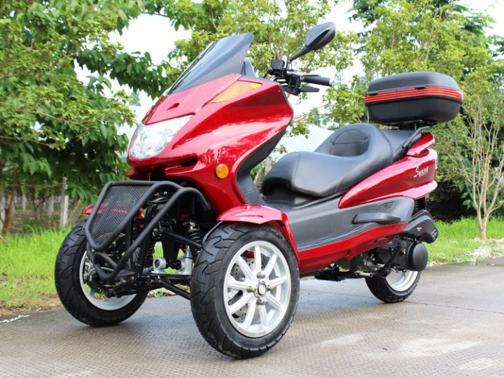 Gas scooter dirt bikes motorcycles go karts 4 wheelers for Motor trikes for sale uk
