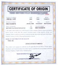 Your Manufacturer Certificate Of Origin Or MCO Can Be Shipped And Delivered  To You In As Little As 5 7 Days. If You Would Like It To Arrive Faster We  Offer ...  Country Of Origin Certificate Sample